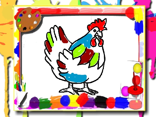 Chicken Coloring Boo