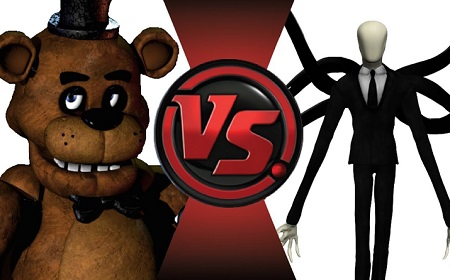 Slenderman VS Freddy The Fazbe